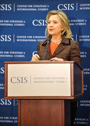 Clinton speaks about Latin America